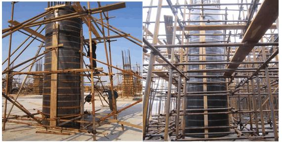 圆柱木模板方案