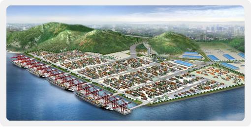 大榭集装箱码头项目位于宁波大榭岛