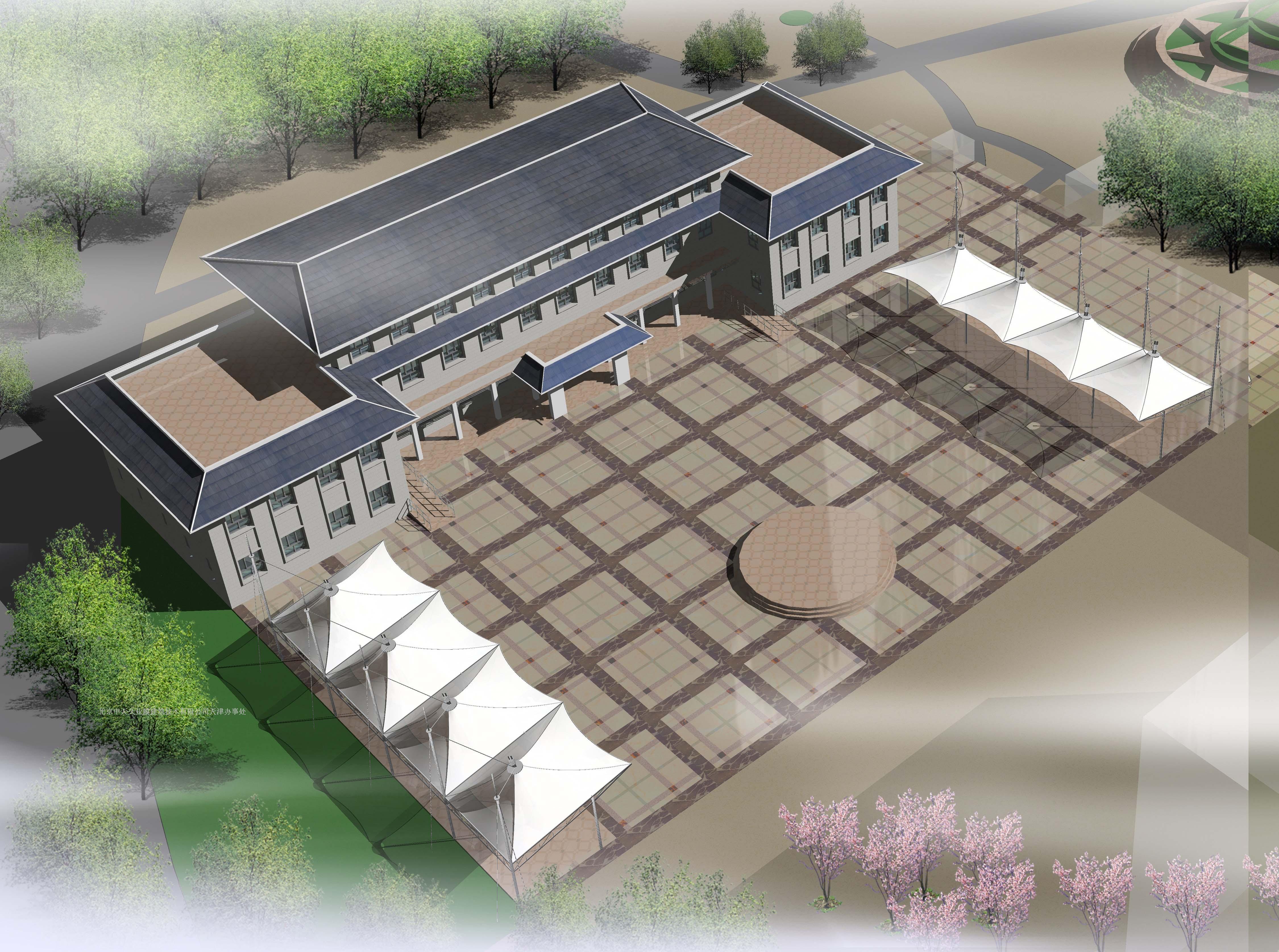 农业建筑效果图