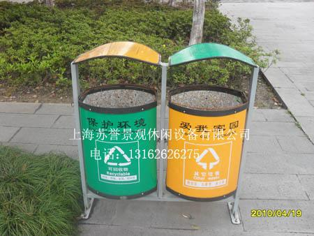 青浦公园垃圾桶,花箱