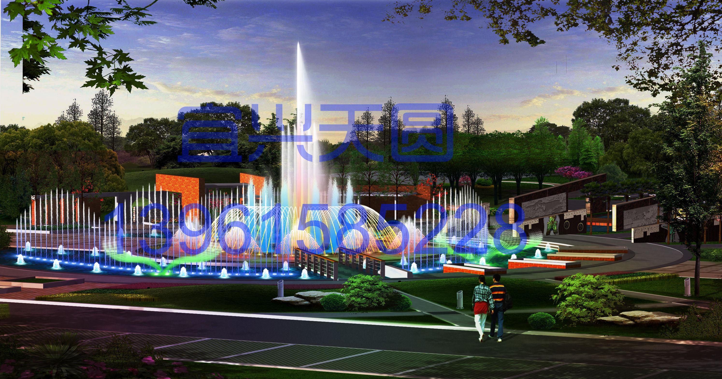 宝鸡市儿童公园音乐喷泉