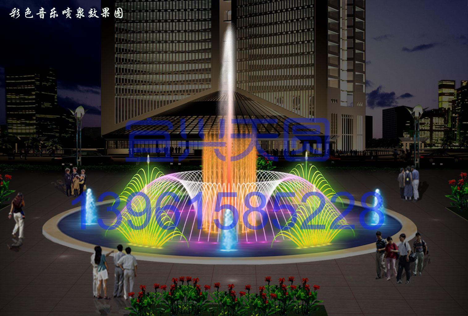 该项目处于江苏省姜堰市市政府广场,属于音乐广场喷泉