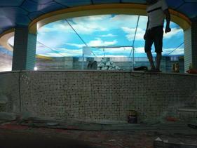 洗浴吊顶游泳馆吊顶软膜天花