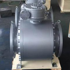 Q347Y蜗轮硬密封球阀-高温高压法兰球阀