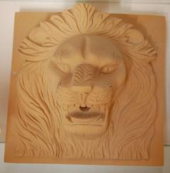 大理石狮子头雕刻 MAF287