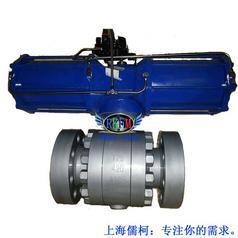 气动法兰硬密封球阀-Q641H-25C型上海RKFM品牌