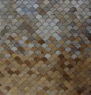 咖啡洞石、黄洞石混合马赛克拼图FSMT-219