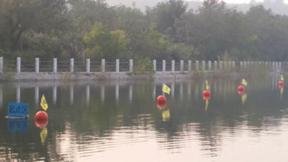 直径30cm海上无污染警示塑料浮球湖泊标识浮球