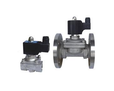 阀门及配件 电磁阀             采用先导或直拉活塞式电磁阀,及直动