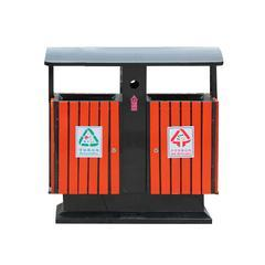 广州易居路易舒豪批发定制户外垃圾桶 钢木垃圾桶 分类果皮箱垃圾箱