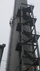 敦化烟囱安装旋转梯 烟囱折梯安装 烟囱安装检测平台