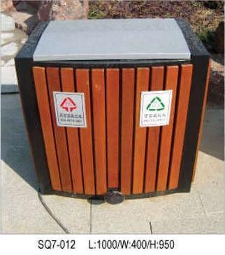室外木制垃圾桶图片大全
