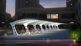 泰州膜结构车棚 景观棚