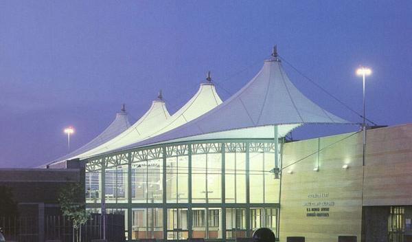 上海膜结构遮阳棚,上海膜结构会所,张拉膜伞,膜建筑