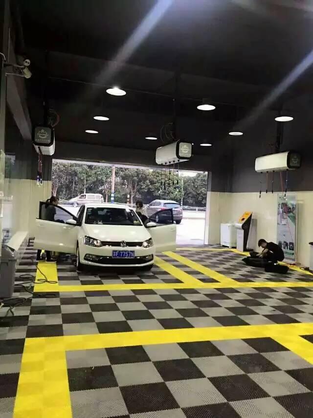 洗车房高分子拼接格栅塑胶格栅防滑垫排水板