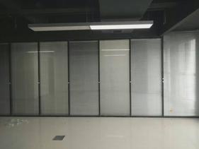 西安办公室成品双层玻璃加百叶帘隔断