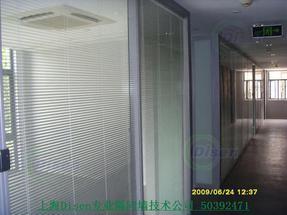 嘉兴双层玻璃内置百叶隔断厂家18621528765