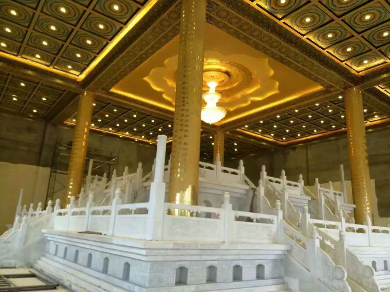古建筑彩绘吊顶寺庙天花禅修新中式天花吊顶佛堂藻井