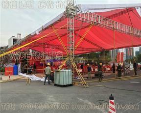 广州地区桁架帐篷搭建