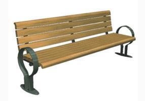 园林座椅小区公园休闲椅户外长椅  铁脚木铸防腐逸诺007