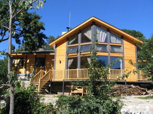 大型鋼木結構高檔歐式木屋別墅