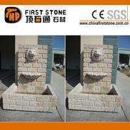 G682锈色花岗岩墙壁雕刻喷泉GAF321