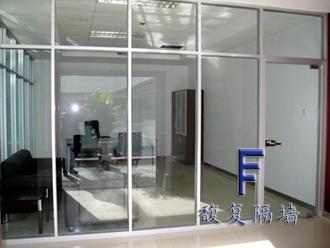 单层玻璃隔断,上海成品隔断,铝合金成品隔断