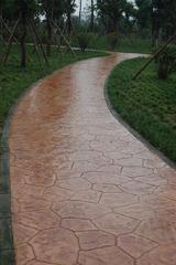 压印混凝土/兰州滨河路景观压模地坪施工