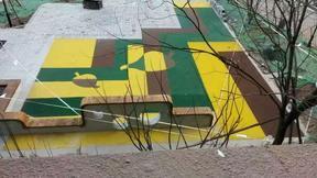 供应cme塑胶跑道人造草坪幼儿园橡胶地板