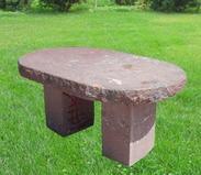 红色花岗岩长凳GCF507