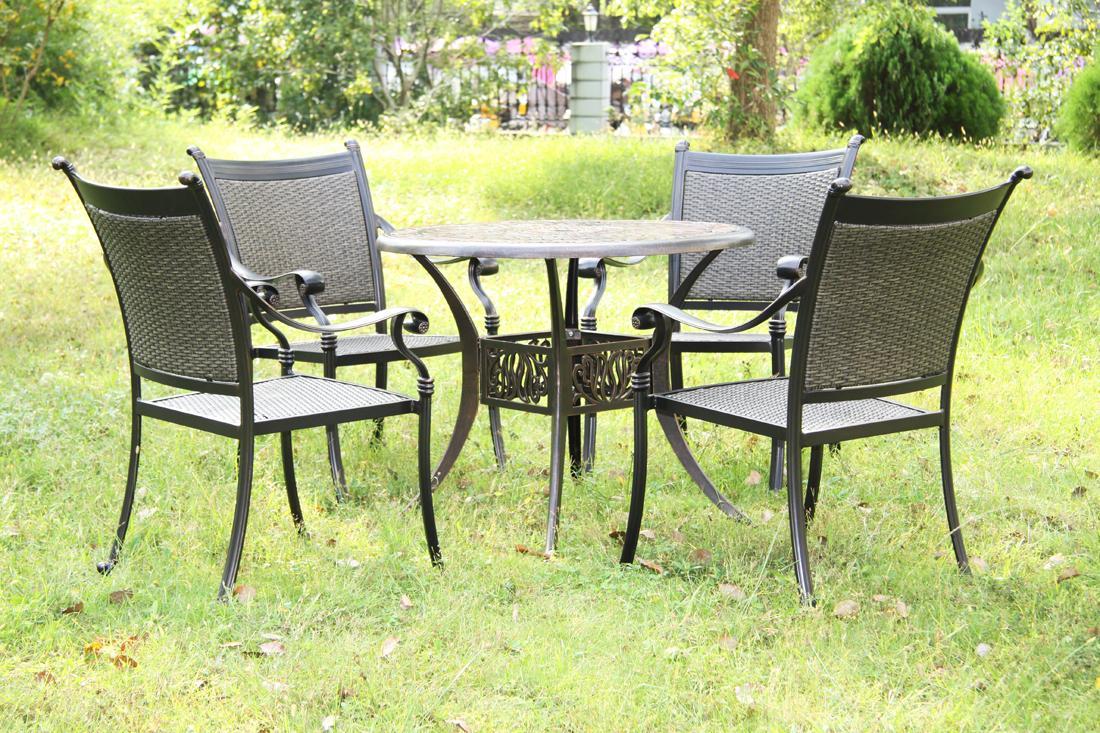 湖南长沙室外休闲铸铝桌椅厂家定制价格