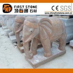 访旧石材小象石雕GAB567