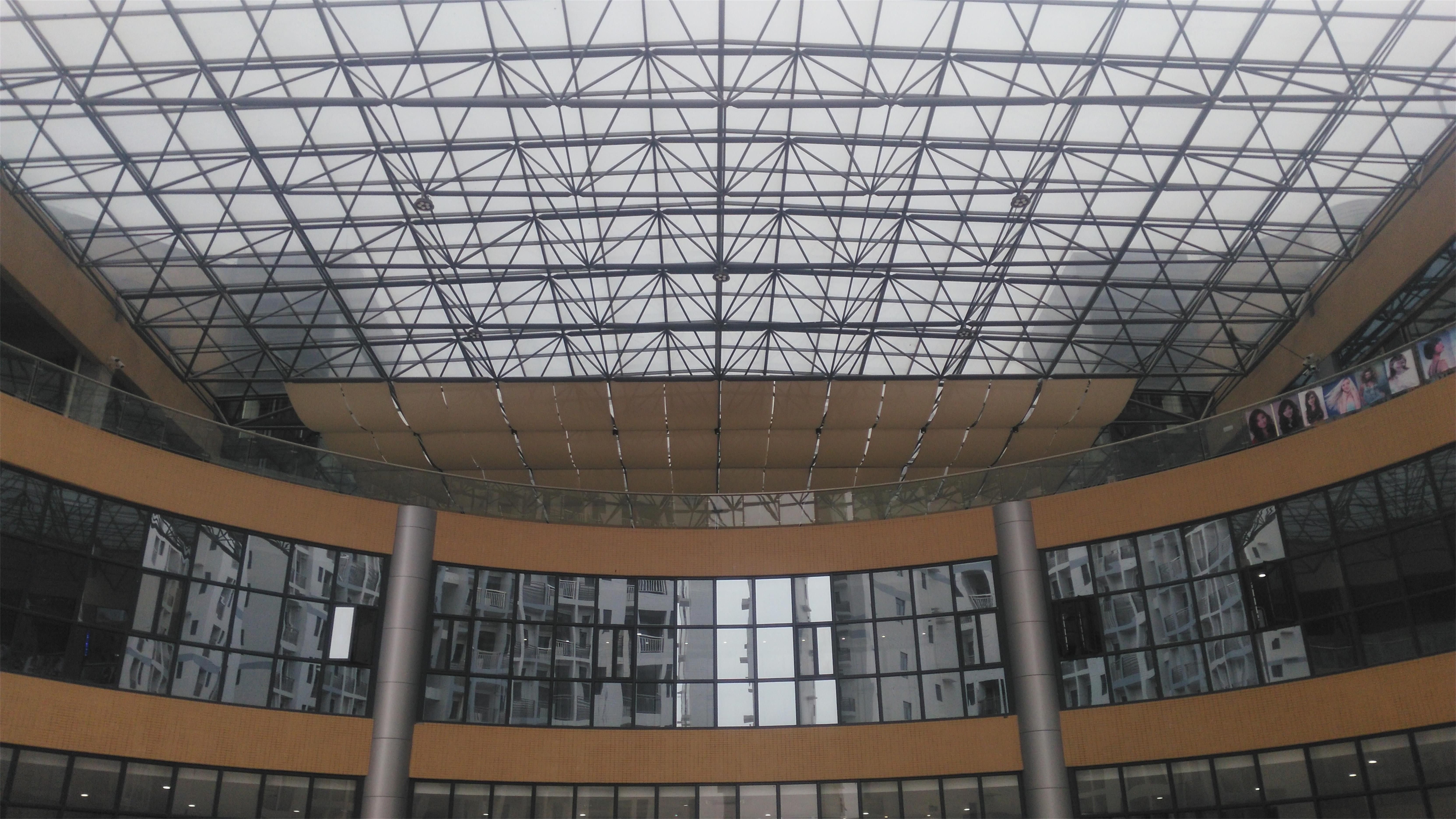 大型中庭玻璃顶,玻璃采光天幕设计