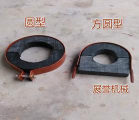 河北厂家直销木质防腐沥青管道托码 带固定螺母 防腐管道垫木