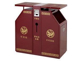 西安公园垃圾箱生产厂家加工制作销售代理批发供应商就找西安志诚塑木