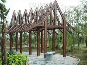 塑木(木塑)亭台水榭
