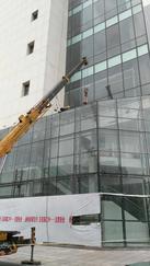 玻璃幕墙固定玻璃更换