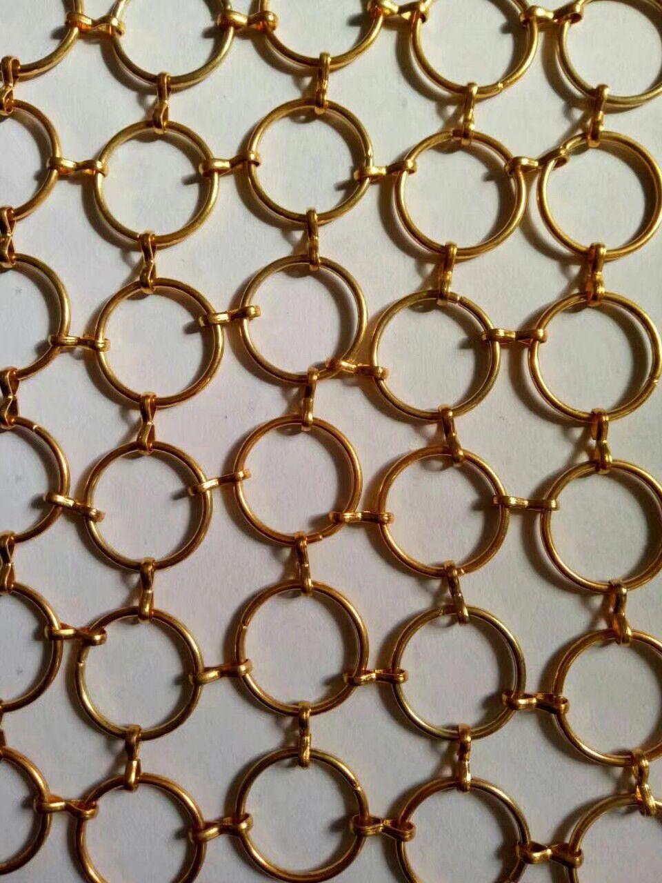 安平厂家直销金属圆环隔断网帘不锈钢金属环网装饰帘