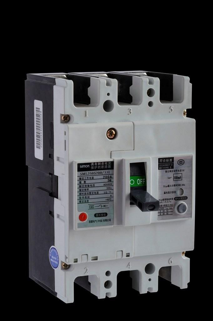 系列剩余电流断路器(cbr)产品参数: 壳架等级额定电流:63a,100 a,250