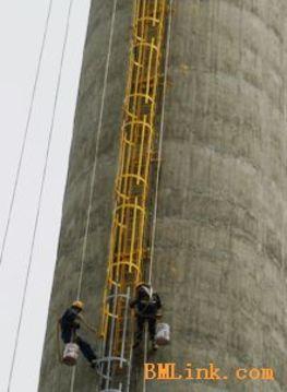 电厂双曲线冷却塔内衬堵漏防渗