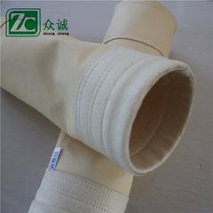 覆膜涤纶针刺毡除尘器滤袋工业耐高温除尘过滤布袋除尘布袋泊头厂家
