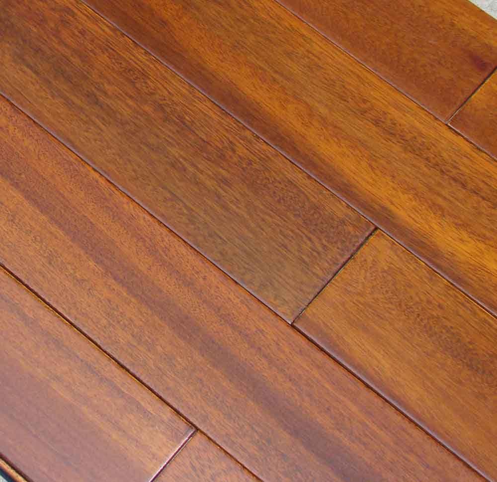 书房圆盘豆木地板 奥卡实木地板