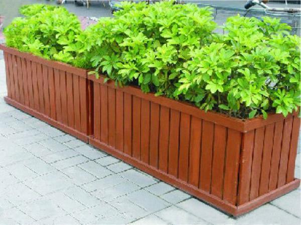 室外木质花箱-景观小品花池
