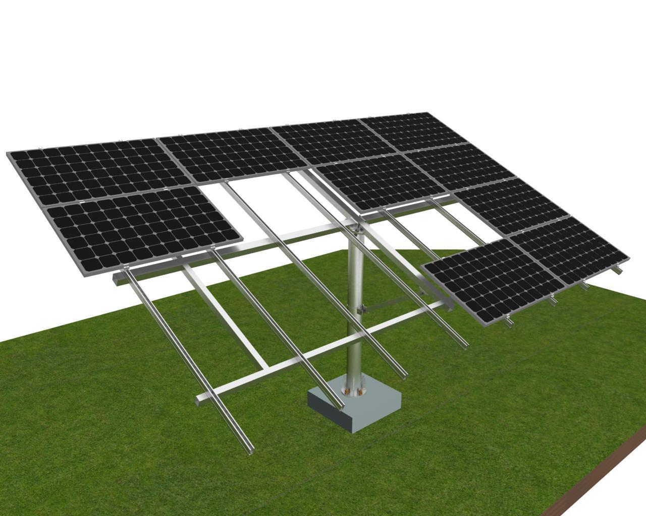 太阳能光伏支架单排立柱支架