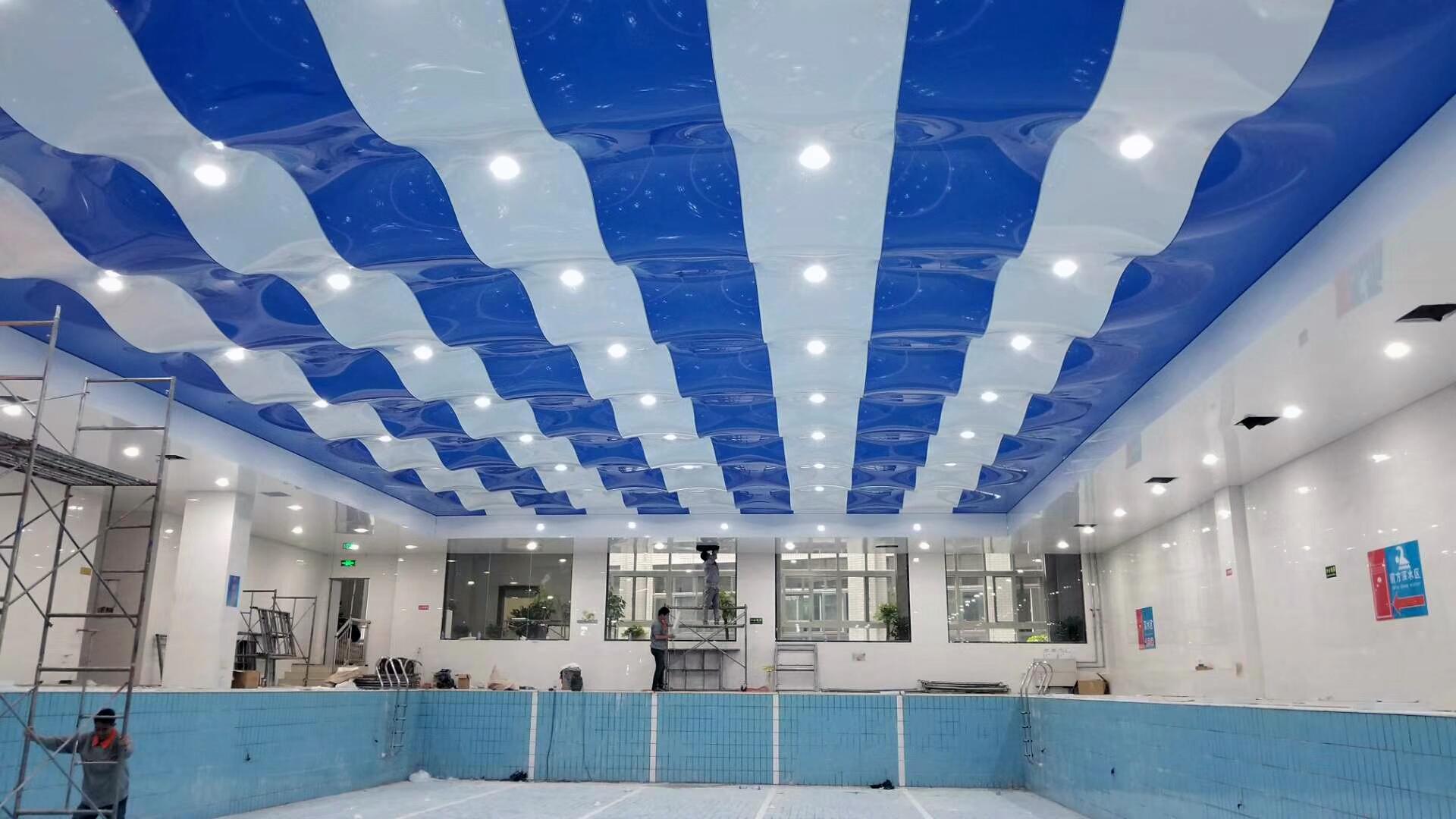 济源钢结构耐腐防潮软膜天花吊顶 游泳馆专用吊顶安装