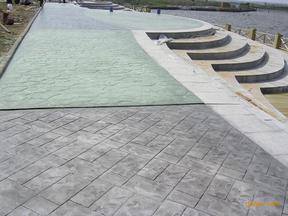 亚石彩坪供应钱桥街道路面 YS01彩色混凝土压花地坪