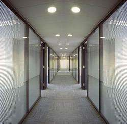 打隔断 铝镁玻璃百叶隔断 轻钢龙骨石膏板隔断办公室装修