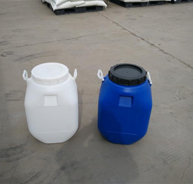 产 品 名 称: 50L方桶 产 品 规 格: 高 592mm 直径370*325mm 口径 240mm 产 品 颜 色: 蓝色、白色、黄色、橙色、红色 产 品 简 明:采用壁厚控制系统,使桶身均匀,强度提高,抗冲击,抗跌落指标优异。100%采用净化吹气系统,保证桶内清洁、卫生。 适用范围 香精、香料、食品添加剂、电子化学品、精细化工、印刷油墨、纺织助剂、生物.