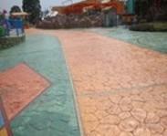 界首彩色透水地坪说明
