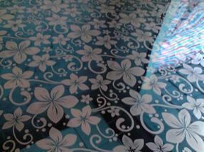 不锈钢卫浴花板,宝石蓝蚀刻紫荆花不锈钢板